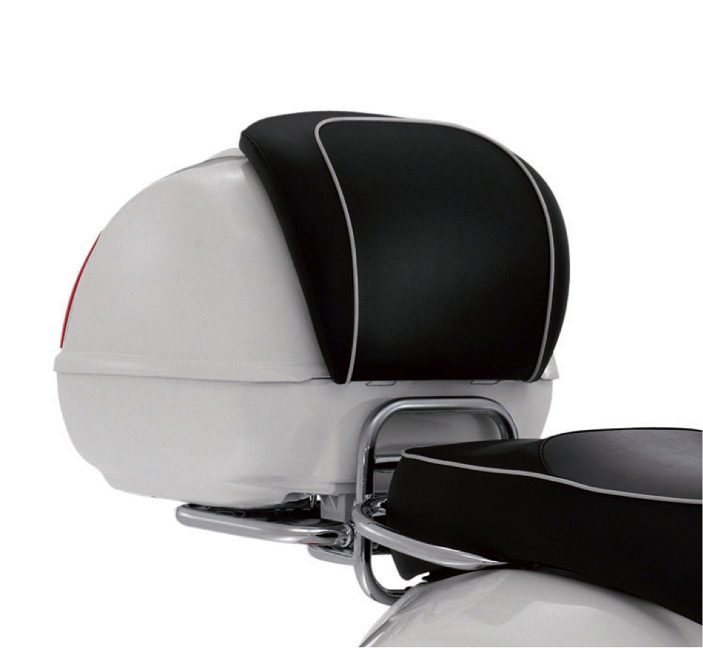 Vespa Top Case with Backrest